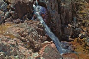 small waterfall among the rocks