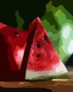 watermelons fresh fruits