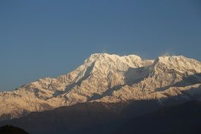 machhapuchre mountain in the annapurna himalayas