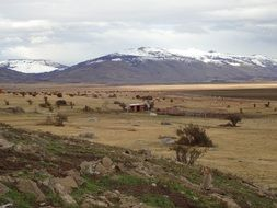 panorama of el calafate in southern argentina