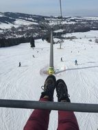 beautiful white ski slope