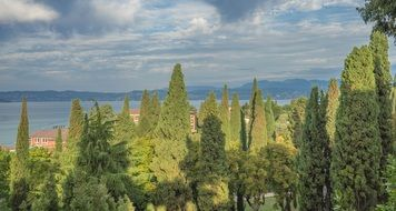 Wonderful sirmione lake garda nature italy