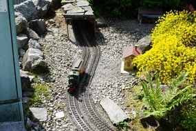 transport on rails on a miniature railway