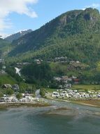 panorama of the village Geiranger in Norway