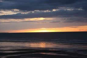 normandy beach sunset landscape