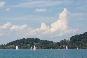 sailboats on a lake in upper bavaria