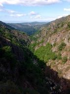 panoramic view of the gorge in galicia