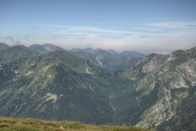 Tatry Slovakia top view on the summer day