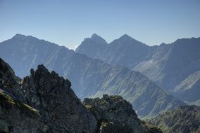 Tatry stunning landscape in the morning