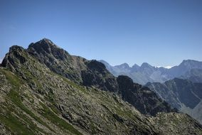 Tatry rocky landscape top view