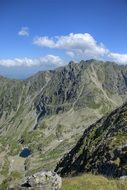Tatry top view mountains