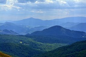 Bieszczady western part of the Beskidy Mountains East