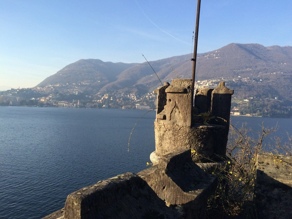como lake at winter, italy