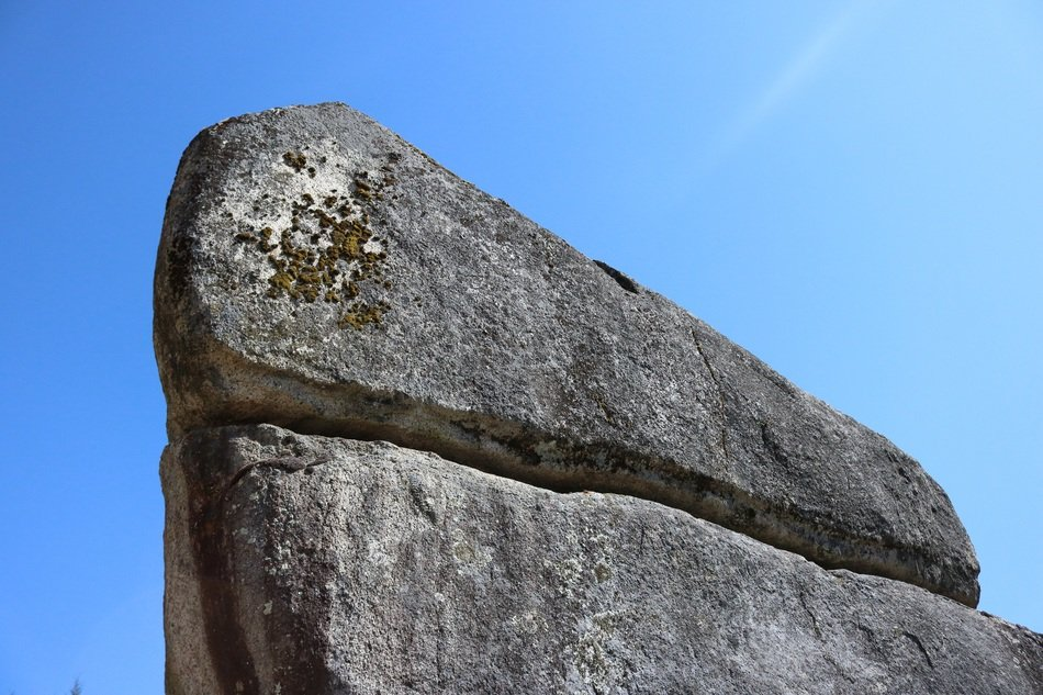 Stone rock blue sky view