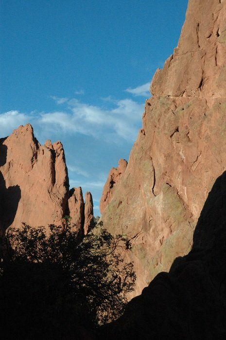 View of the rocks in the Garden of the Gods, Colorado