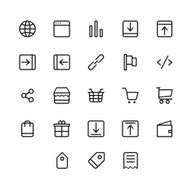 E-commerce Icons Set N4