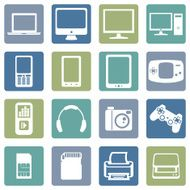 Vector Set of Digital Devices Icons N3