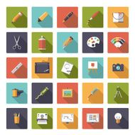 Art and design flat icon vector collection N2