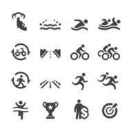 Triathlon Competition Flow Icons - Acme Series