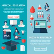 Flat style business medical research infographic concept