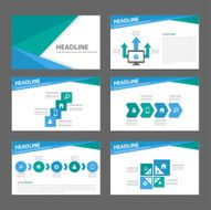 Blue and green Multipurpose presentation Templates