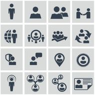 Human resources and management icons set N15