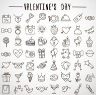 Set valentine's day objects Love icon