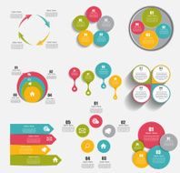 Collection of Infographic Templates for Business Vector Illustra N10