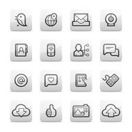 Digital communication and social network icons