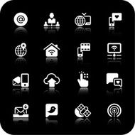 Digital communication icons N6