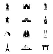 Famous Place Icon Set N2