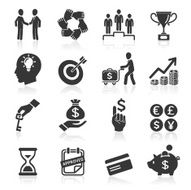 Business management and human resources icons N3