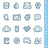 Social media - digital communication icons
