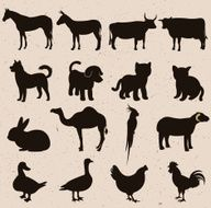 Animal Silhouettes N16