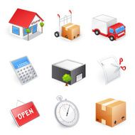 Delivery and shopping icons - 3D series