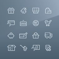 Shopping icons - Linea series