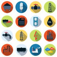 Energy and fuel vector icons