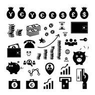 money and financial icon set N2
