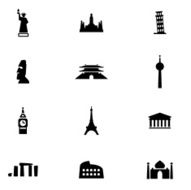 Famous Place Icon Set N3
