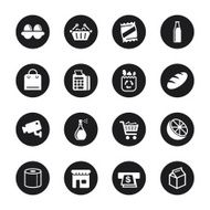 Supermarket Icons - Black Circle Series