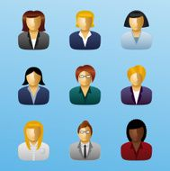 Business People Icon Set - Businesswoman
