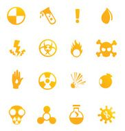 Hazardous materials icons