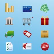 ecommerce and online shop icon set