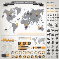 Infographic elements -agriculture and food N2
