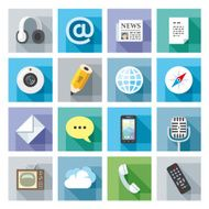 Modern flat icons Communication
