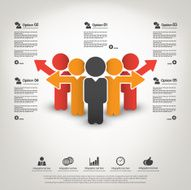 Business management strategy and human resource infographics