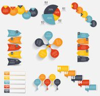 Collection of Infographic Templates for Business Vector Illustra N11