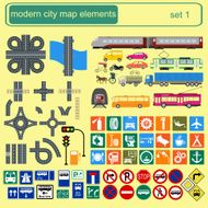 Modern city map elements for generating your own infographics N2