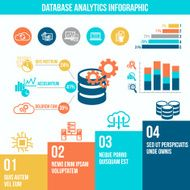 Database analytics infographics