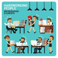 Hardworking People Infographic Elements N2